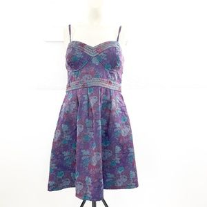 Free People Size 12 Foiled Tapestry Dress NWT